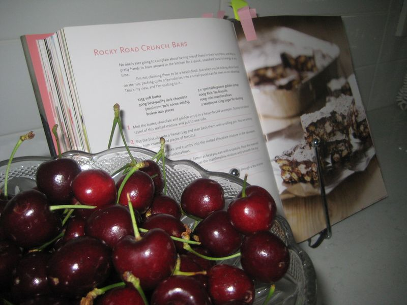 Cookbook on stand
